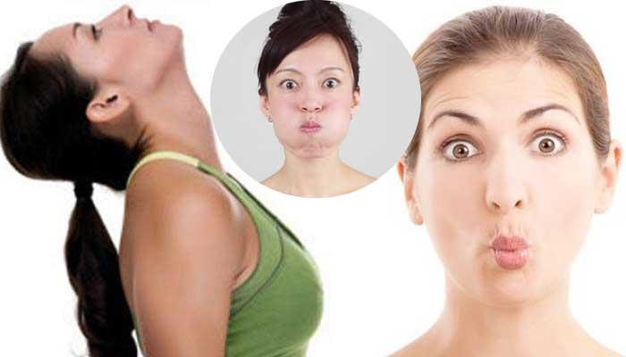 7 Simple Facial Exercises For Lips, Cheeks, Double Chin And Face Slimming