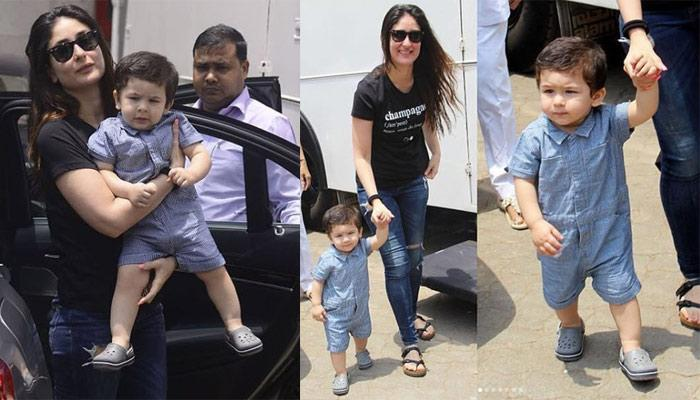 Taimur Dressed In A Blue Jumpsuit, Matching Shoes And New Haircut Is Making Our Weekend More Amazing
