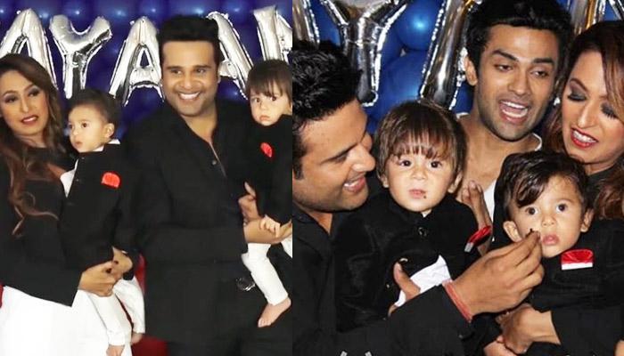 Parents Krushna Abhishek And Kashmera Shah Host A Grand B'Day Party For Twins Rayaan-Krishaang