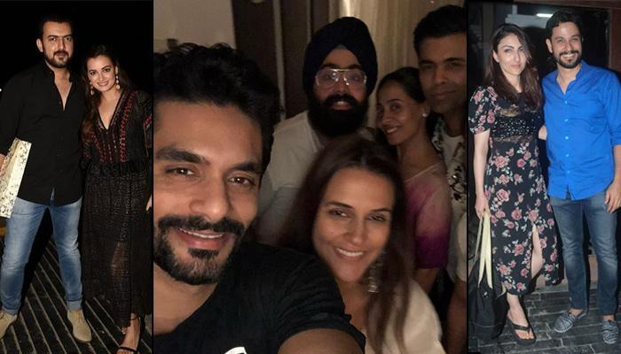 Newly-Weds Neha Dhupia And Angad Bedi Hosted Post-Wedding Party, Karan, Dia, Soha, Kunal Attend