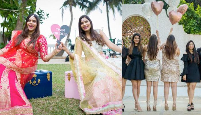Twin Sisters Aastha And Aashna Got Married On The Same Day, Had The Most Unique Bridesmaids Shoot