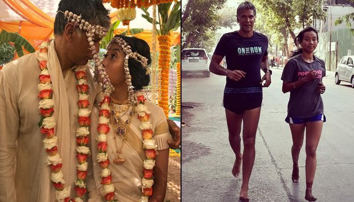 Milind Soman And Ankita Konwar With Mehendi Clad Hands-Feet, Go For Their First Run Post Wedding