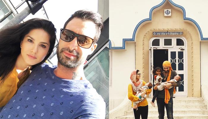 Sunny Leone Posts A Family Picture Outside A Gurudwara, Thanks Her Hubby Daniel For Giving Best Life
