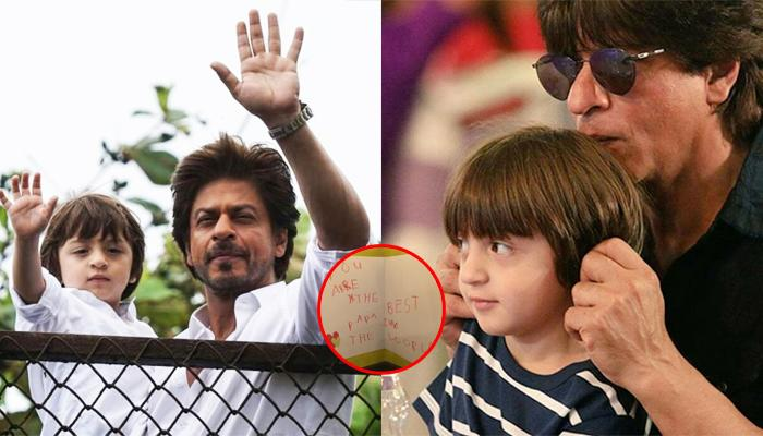 AbRam Wrote A Note For Shah Rukh On Father's Day, SRK Says It Completes A Father's Life