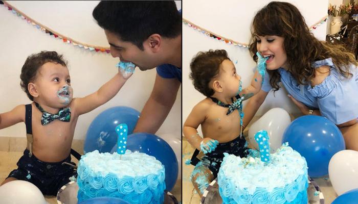 Karan Mehra And Nisha Rawal Celebrate Son Kavish Mehra's First Birthday With 'Cake Smash'