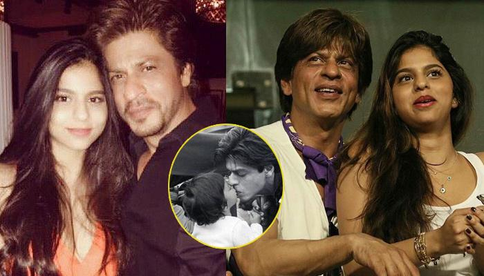 Unseen Picture Of Shah Rukh Khan Kissing His Daughter Suhana When She Was Small Is Adorable
