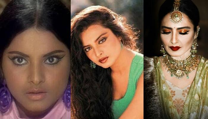 The Glorious Transformation Of Rekha From A Full-Figured Teenage Actress To A Graceful Diva
