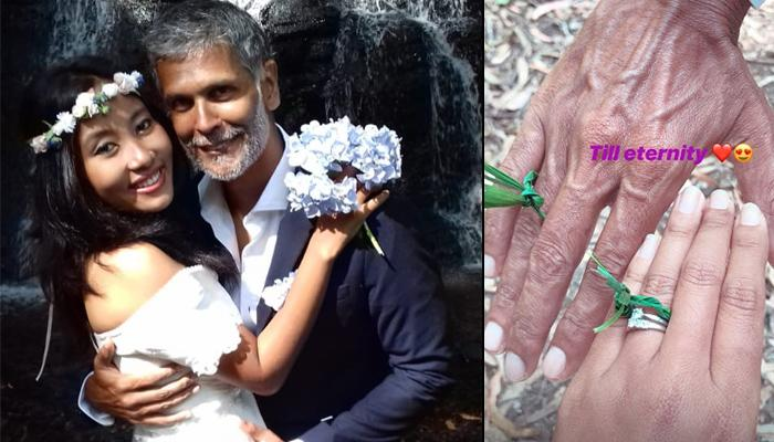 Milind Soman And Ankita Konwar Exchanged Their Wedding Vows Again In A Barefoot Wedding Ceremony