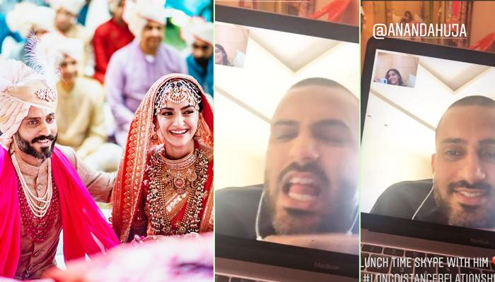 Sonam K Ahuja And Anand S Ahuja's Skype Lunch Date Proves Long Distance Brings Hearts Closer