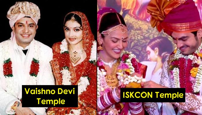 Bollywood And TV Celeb Couples Who Decided To Go Traditional By Getting Married In A Temple