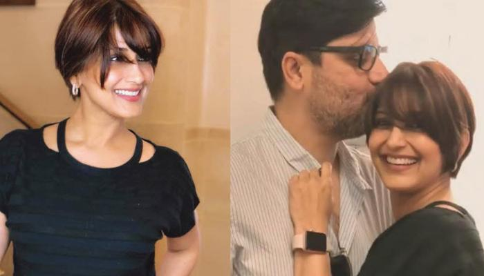 Fighting Against Cancer, Sonali Bendre Flaunts A New Hair Cut, Hubby Goldie's Reaction Is Lovely