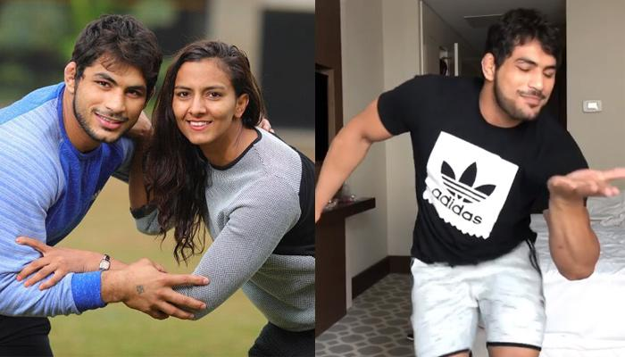 'Dangal's' Inspiration Geeta Phogat's Wrestler Hubby Pawan Saroha Breaks Into A Cute Dance For Wifey