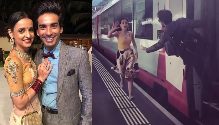 Mohit Sehgal And Sanaya Irani Recreate The 'DDLJ' Train Moment But In A Unique Way, Video Inside