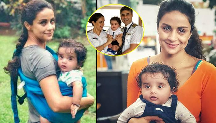 Gul Panag, Hubby Rishi Attari And Their Son Nihal Are Dressed Up Like Pilots In First Family Picture