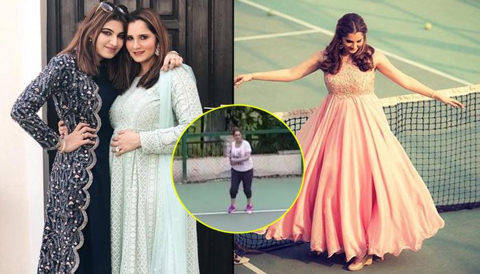 Seven Months Pregnant Sania Mirza Playing Tennis With Sister Anam Mirza Is Inspiring In Every Sense