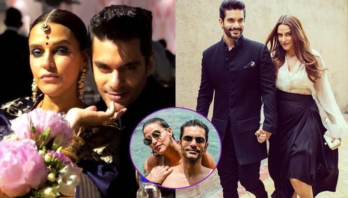 Neha Dhupia And Hubby Angad Bedi Pose For Dreamy 'Sunkissed' Pool Pictures At Their Honeymoon