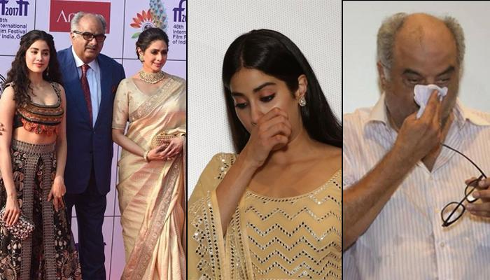 Boney, Janvhi And Khushi Kapoor Could Not Control Their Tears On Sridevi's 55th Birthday