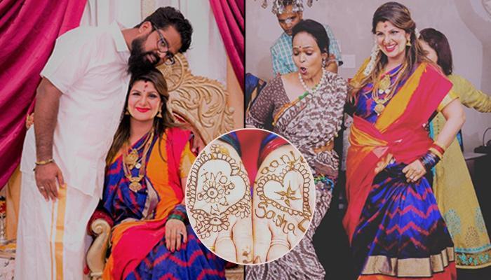 Salman Khan's Co-Star Rambha's Third Baby Shower, Writes Hubby And Kids' Name On 'Mehendi'