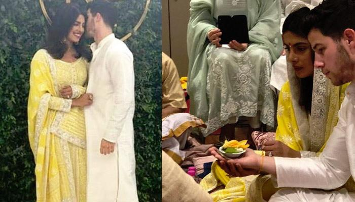 Priyanka Chopra And Nick Jonas During 'Puja' At Their 'Roka' Ceremony, Pics Inside [Live Updates]