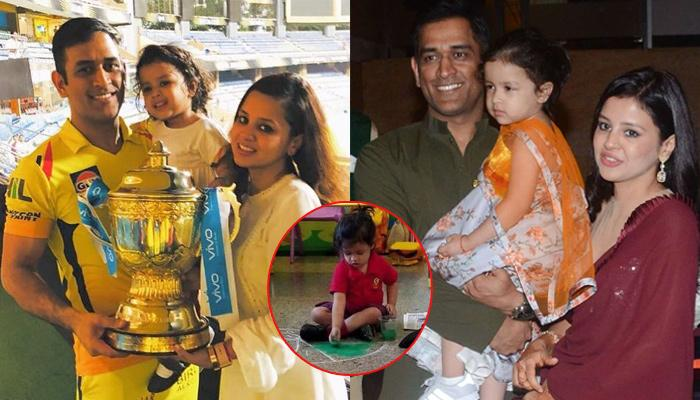 Mahendra Singh Dhoni's Baby Girl Ziva Dhoni Makes 'Rangoli' In Her School, Pictures Inside