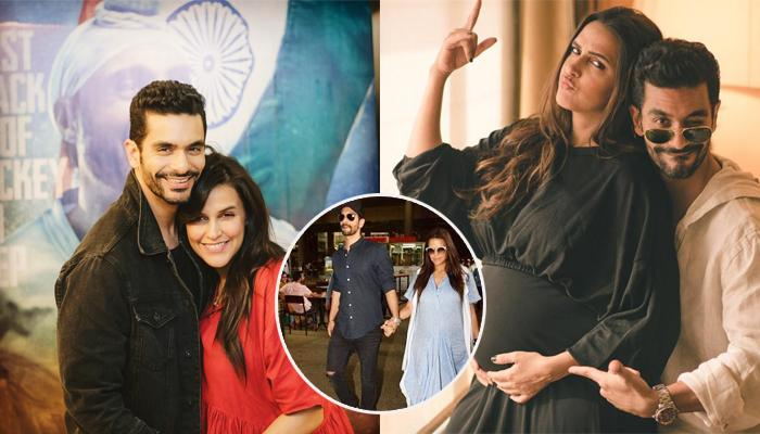 Neha Dhupia Flaunts Her Baby Bump At The Airport After Announcing Her Pregnancy
