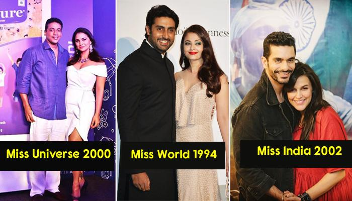 Famous Bollywood Actresses Who Have Won Major Beauty Pageants And Their Husbands
