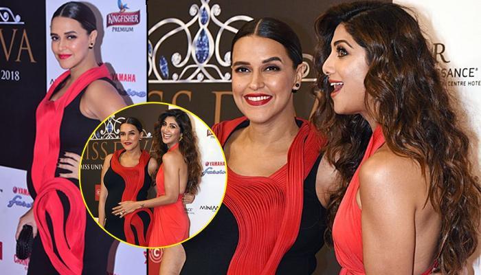 Shilpa Shetty Kundra Congratulates Preggy Neha Dhupia, Poses With Her Baby Bump At An Event