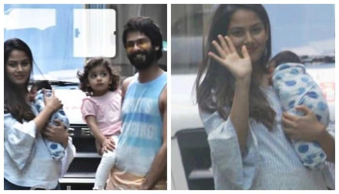 Mira Rajput Gets Discharged From Hospital, Poses With Shahid Kapoor, Misha And Zain