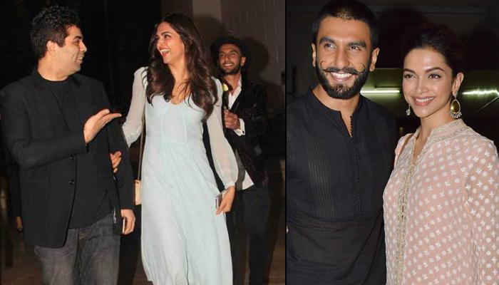 Karan Johar Is 'Not Denying' The Wedding Rumours Of Deepika Padukone And Ranveer Singh