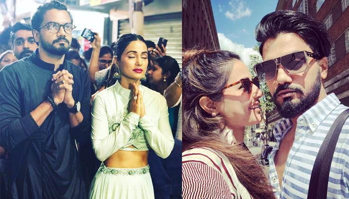 Hina Khan And Rocky Jaiswal Visit Lalbaugcha Raja Pandal For Ganpati Darshan To Seek Blessings