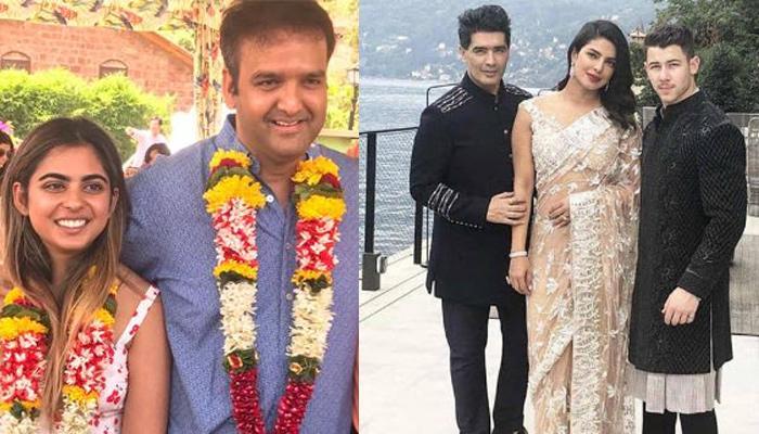 Priyanka Chopra Nick Jonas Look Divine In Traditional Attires At Isha Ambani And Anand S Engagement