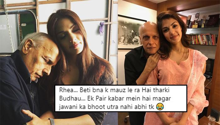 Rhea Chakraborty Shares Pics With Mahesh Bhatt, Slams Trolls For Linking Her Romantically With Him