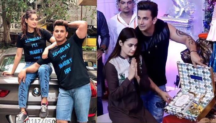 Prince Narula And Yuvika Chaudhary Present Their First Wedding Invitation Card To Ganesha