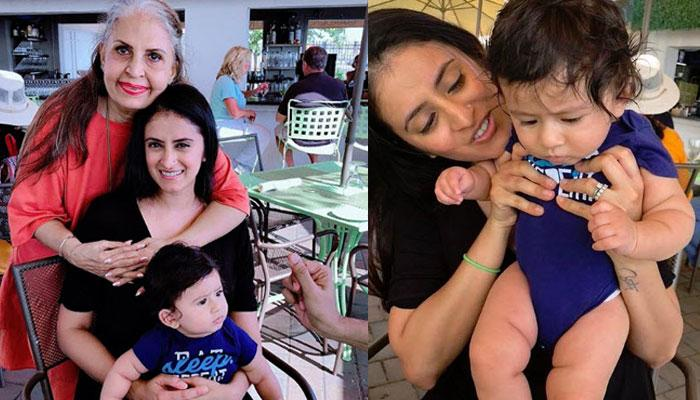 Mihika Kapai Shares First Family Picture With 6-Month-Old Son, He Has A Naughty Dimpled Smile