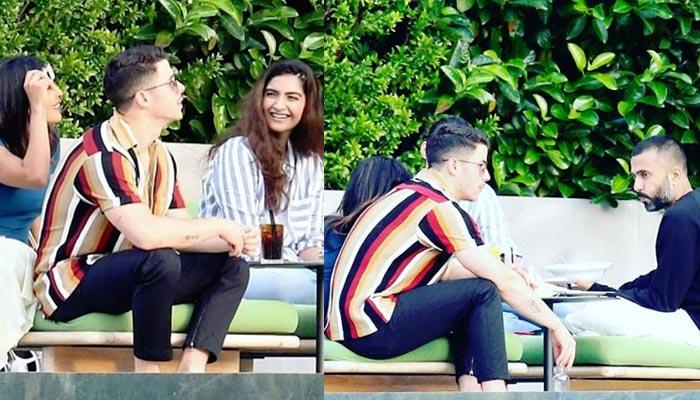 Priyanka Chopra-Nick Jonas And Sonam Kapoor-Anand Ahuja Enjoy Double Date On Poolside