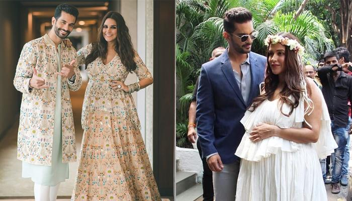 Pregnant Neha Dhupia Looks Gorgeous In Her White Dress During Her