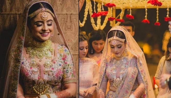 This Bride Opts For White Bridal Chooda With Sabyasachi Bridal Lehenga, Proves White Is The New Red