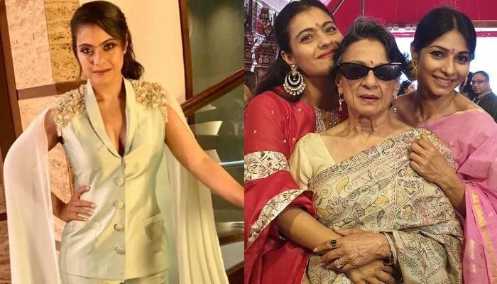 Kajol Shares Cute Pictures With Sister, Tanisha And Mommy, Tanuja On The First Day Of Durga Puja