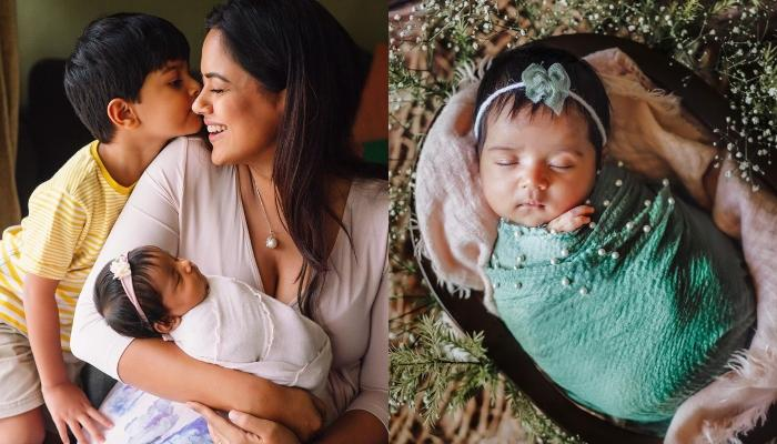 Sameera Reddy Posts An Adorable Picture Of Her 3-Month-Old Daughter, Nyra, Calls Her 'Miss Grumpy'