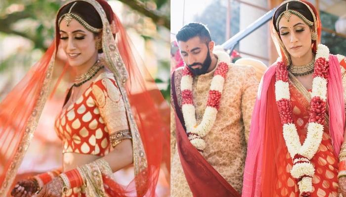 This Bride Wore A Silk Lehenga For Her Wedding In London, Sets A New Trend For South Indian Brides