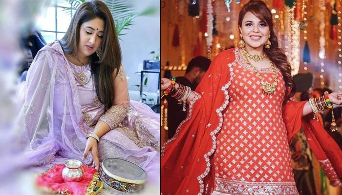 Karwa Chauth Outfit Ideas For Plus-Size Brides Who Are Celebrating Their First Fast After Marriage