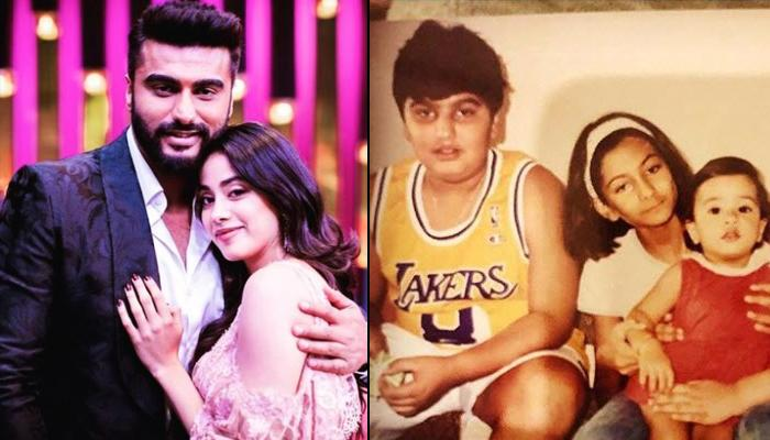 Arjun Kapoor Posts Unseen Childhood Pictures With Baby Janhvi Kapoor, Rhea Kapoor And Anshula Kapoor