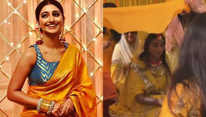 Mohena Kumari Singh Looks Breathtaking On Her Haldi, Contrasting Floral Jewellery Steals The Show