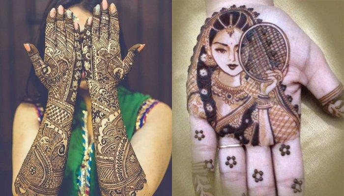 10 Unique Karwa Chauth Mehendi Designs Trending 2019 Festive Season And Tips To Darken The Colour