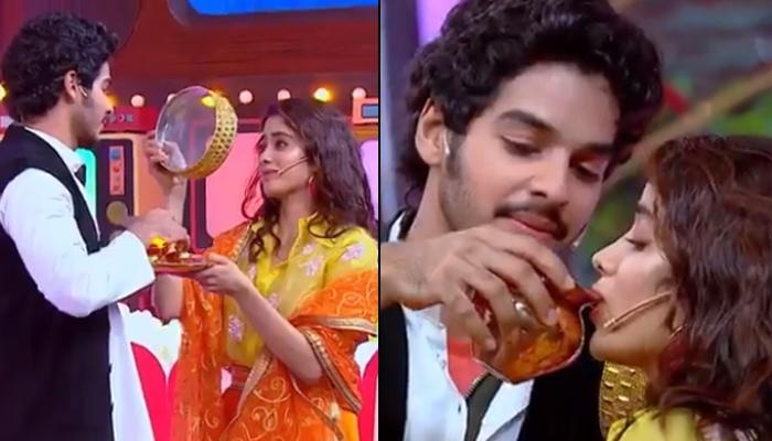 Janhvi Kapoor And Ishaan Khatter Recreate Karwa Chauth Scene From 'Dilwale Dulhania Le Jayenge'