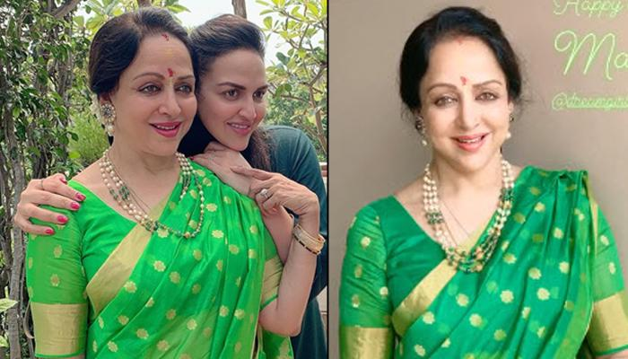 Esha Deol Twins With Mamma, Hema Malini In Hues Of Green On Her 71st Birthday, Pens A Heartfelt Wish