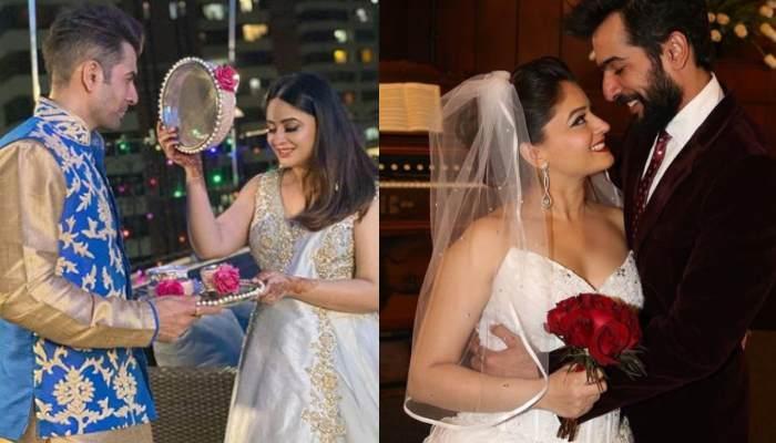 Mahhi Vij Celebrates First Karwa Chauth Post Motherhood, Hubby Jay Bhanushali Shares Pictures