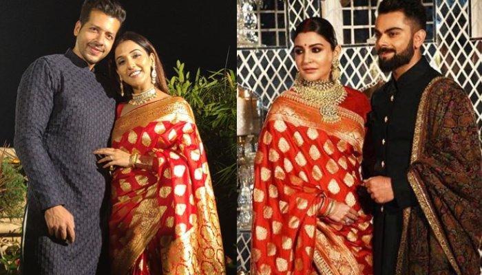 Neeti Mohan Wore The Replica Of Anushka Sharma's Delhi Reception Saree On Her First Karwa Chauth