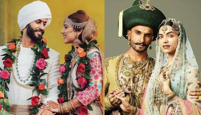 This Couple Reminded Us Of 'Bajirao Mastani' With Their Unique Ensemble For Their Wedding Day