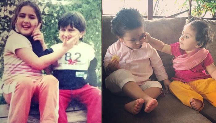 Sara, Ibrahim, Taimur Ali Khan And Inaaya Naumi Kemmu's Throwback Pics Prove The Uncanny Resemblance